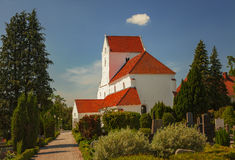 Dalby priory. Image of the medieval church and priory at Dalby, Sweden stock photo