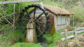 Dalby water wheel. A water wheel that provided power until the 1940's in Union Washington Stock Images