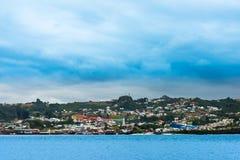 Dalcahue auf Chiloe-Insel lizenzfreie stockbilder