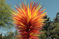 Dale Chihuly Glass Sculpture. A stunning Dale Chihuly Glass Sculpture at the Denver Botanic Gardens royalty free stock photo