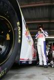 Dale Earnhardt Jr. in garage area Stock Image