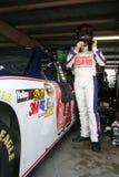 Dale Earnhardt Jr. in garage area Stock Images