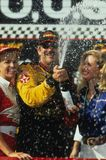 Dale Earnhardt NASCAR Driver. Dale Earnhardt Celebrating his NASCAR win during the racing season Stock Photo