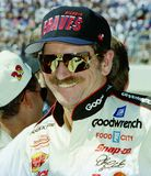 Dale Earnhardt Sr. at Charlotte Motor Speedway. Dale Earnhardt on pit road prior to the start of the UAW-GM Quality 500 in October 1997 at Charlotte Motor stock photography