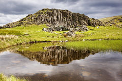 Dale Head Tarn. In the lake district with dark clouds in the background royalty free stock photography