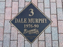 Dale Murphy-plaque stock fotografie