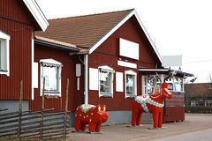 Dalecarlian (Dala) paard in Nusnas Dalarnaprovincie zweden stock foto's