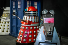 Dalek and Doctor Who models Stock Photo