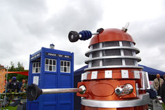 Dalek and Tardis Stock Photography