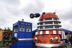 Dalek and Tardis stock photography