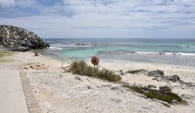 Daleka basen plaża Zdjęcia Royalty Free