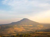Daleka góra w lesie z niebem Zdjęcie Royalty Free