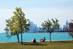 daleki Chicago śródmieście Zdjęcie Stock
