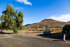 Daleki miasteczko Nieu Bethesda w Karoo Zdjęcia Stock
