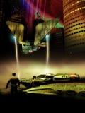 Daleki planety miasto ilustracji