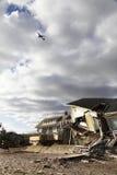 Zniszczeni plażowi domy w następstwie Huraganowy Sandy w Dalekim Rockaway, NY zdjęcia stock