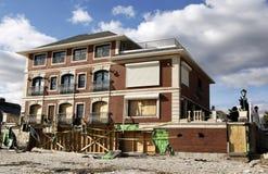 Zniszczony plażowy dom w następstwie Huraganowy Sandy w Dalekim Rockaway, NY Fotografia Stock