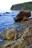 Daleki Wschód, Rosja, morze krajobraz Fotografia Stock