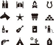 Daleki zachodni ikona set Zdjęcie Royalty Free