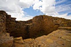 Dalekie widok społeczności ruiny przy mesy Verde parkiem narodowym. Zdjęcia Royalty Free