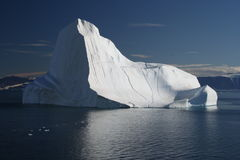 daleko Greenland góra lodowa Fotografia Royalty Free