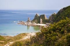 Daleko Na wschód od Rosja. Wybrzeże Japoński morze Zdjęcie Royalty Free
