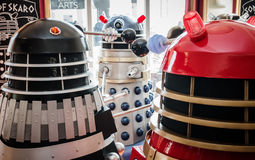 Daleks at a convention Stock Photos