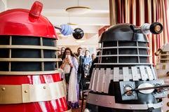 Daleks på en regel Royaltyfri Foto