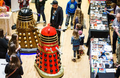 Daleks på science fictionen Scarborough Royaltyfria Foton