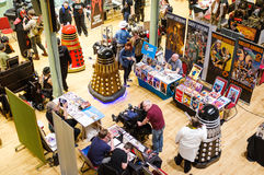Daleks på science fictionen Scarborough Fotografering för Bildbyråer