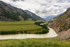 Dalen av den Chuya floden Arkivfoton