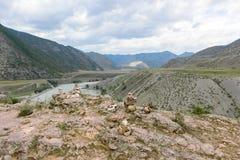 Dalen av den Chuya floden Arkivbilder