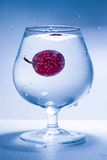 Dalend druif en glaswater Royalty-vrije Stock Afbeelding