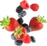 Dalend geïsoleerdn fruit Royalty-vrije Stock Foto's
