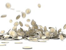 Dalend geld Stock Foto's