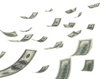 Dalend geld stock illustratie