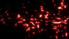 Dalend Gloeiend Rood de Bekledings Grafisch Element van de Verenlijn stock video