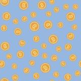 Dalend muntstukken naadloos patroon vector illustratie