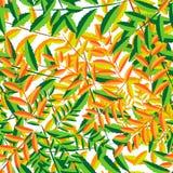 Dalende bladeren in naadloos patroon vector illustratie