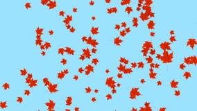 Dalende bladerenanimatie als achtergrond vector illustratie