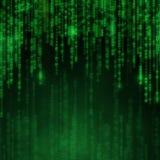 Dalende blauwe aantallen met heldere flitsen Abstracte technologie Stock Afbeeldingen