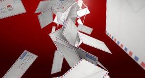 Dalende Brieven aan Kerstman Royalty-vrije Stock Foto