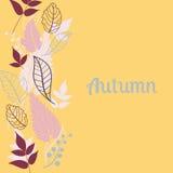 Dalende de bladerenachtergrond van de herfst kan worden gebruikt voor Royalty-vrije Stock Fotografie