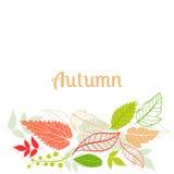 Dalende de bladerenachtergrond van de herfst kan worden gebruikt voor Royalty-vrije Stock Foto