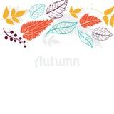 Dalende de bladerenachtergrond van de herfst kan worden gebruikt voor Stock Afbeelding
