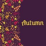 Dalende de bladerenachtergrond van de herfst kan worden gebruikt voor Stock Foto's