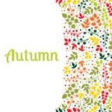 Dalende de bladerenachtergrond van de herfst kan worden gebruikt voor Royalty-vrije Stock Afbeelding
