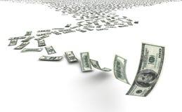 Dalende Dollars Stock Foto's