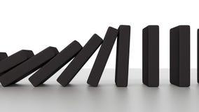 Dalende dominoanimatie stock illustratie