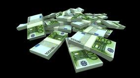 Dalende Euro Pakken (met Steen) stock illustratie